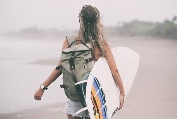 Surfing Echo Beach