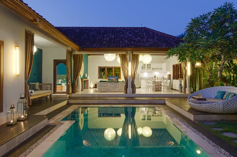 Pool at Night - 4S Villas - Seminyak, Bali
