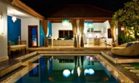 Swimming Pool at Night - 4S Villas - Seminyak, Bali