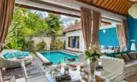 Living Area with Pool View - 4S Villas - Seminyak, Bali