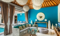 Living Area with TV - 4S Villas - Seminyak, Bali