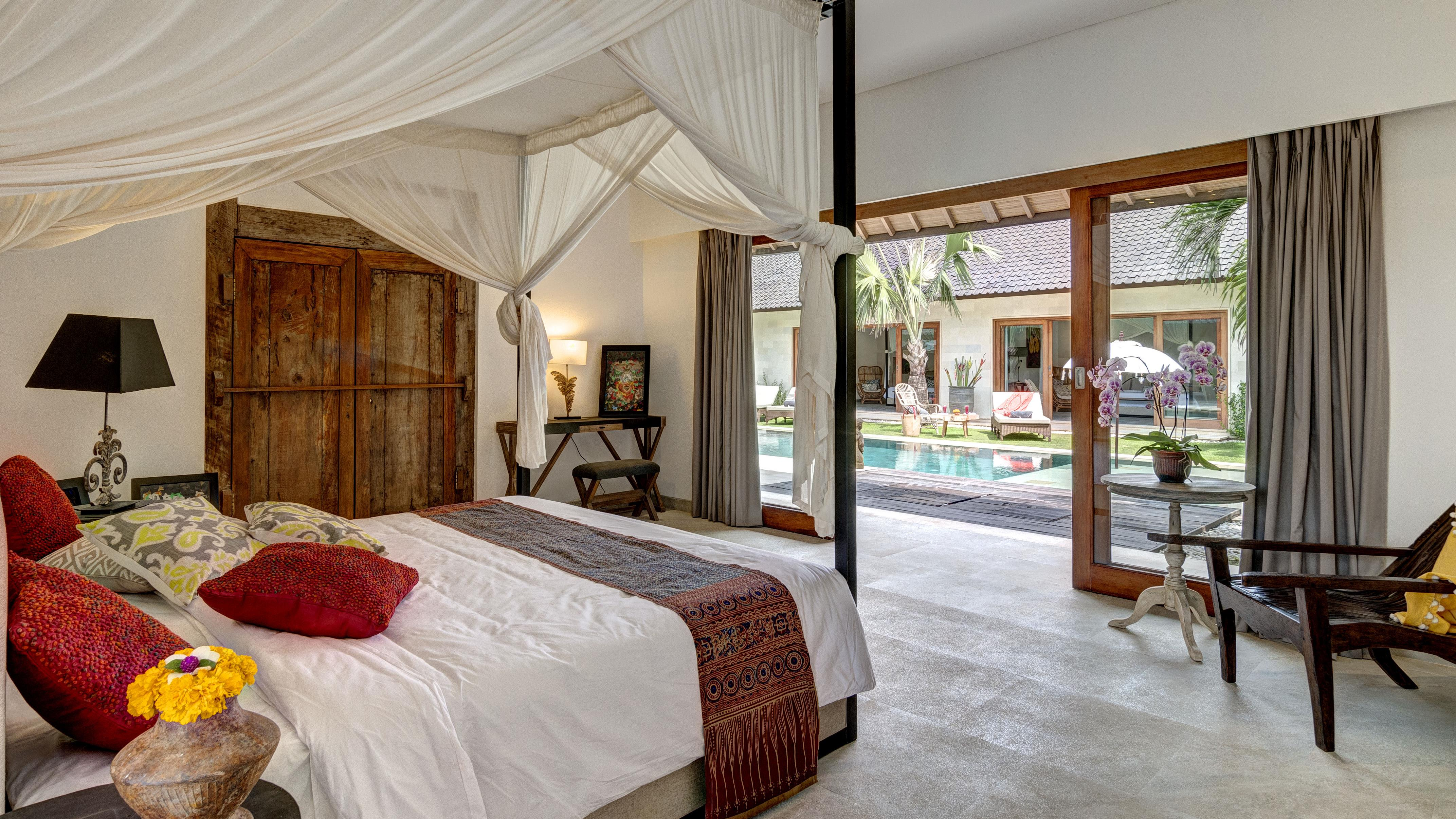 Bedroom with Pool View - Abaca Villas - Seminyak, Bali