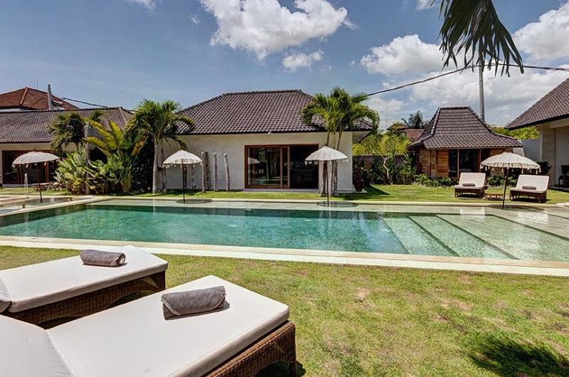 Pool Side Loungers - Abaca Villas - Seminyak, Bali
