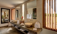 His and Hers Bathroom with Mirror - Abaca Villas - Seminyak, Bali