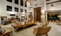 Living Area at Night - Abaca Villas - Seminyak, Bali