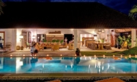 Gardens and Pool at Night - Abaca Villas - Seminyak, Bali