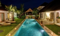 Pool Side Loungers at Night - Abaca Villas - Seminyak, Bali