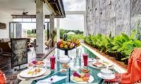Pool Side Dining - Abaca Villas - Seminyak, Bali