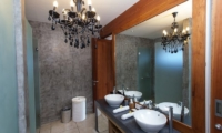 His and Hers Bathroom with Mirror - AB Villa - Seminyak, Bali