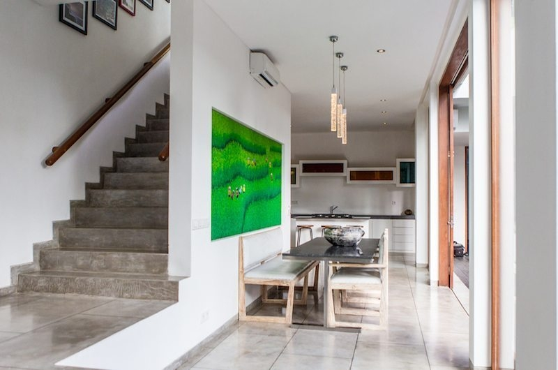 Kitchen and Dining Area with Up Stairs - AB Villa - Seminyak, Bali