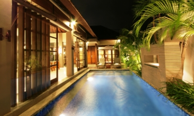 Pool at Night - Akara Villas 1 - Seminyak, Bali