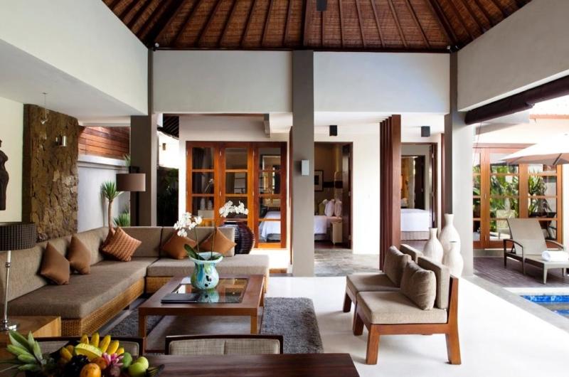 Living Area with Pool View - Akara Villas 1 - Seminyak, Bali