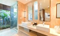 Semi Open His and Hers Bathroom - Akara Villas 1 - Seminyak, Bali