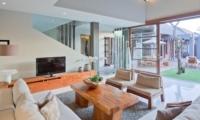 Living Area with TV - Akara Villas 3 - Seminyak, Bali