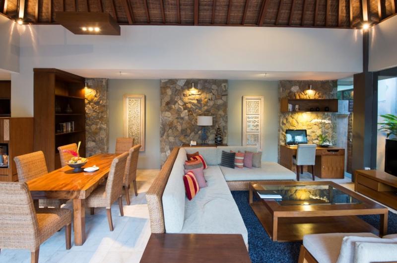 Living and Dining Area - Akara Villas 8 - Seminyak, Bali