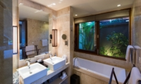 His and Hers Bathroom - Akara Villas 8 - Seminyak, Bali