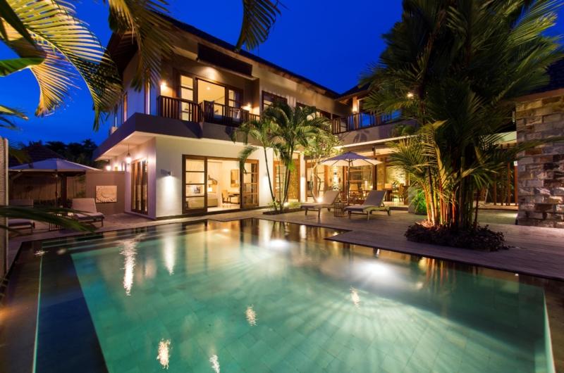 Pool at Night - Akara Villas M - Seminyak, Bali