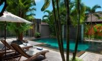 Pool Side Loungers - Akara Villas M - Seminyak, Bali