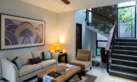 Living Area with Up Stairs - Akara Villas M - Seminyak, Bali