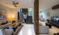 Living Area with TV - Akara Villas M - Seminyak, Bali