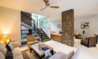 Lounge Area with Up Stairs - Akara Villas M - Seminyak, Bali