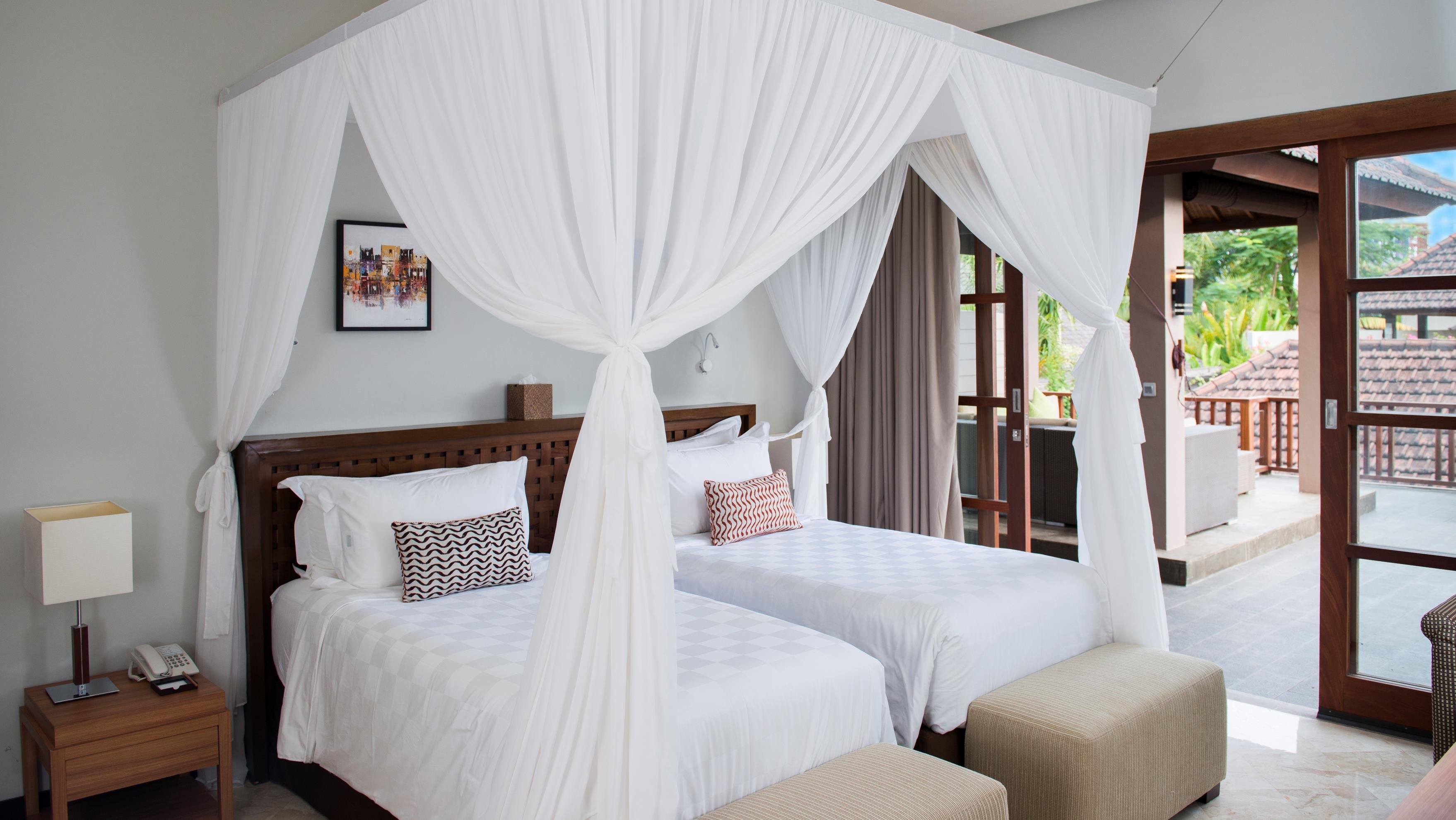 Bedroom with Twin Beds - Akara Villas M - Seminyak, Bali