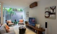 Lounge Area with TV - Akara Villas M - Seminyak, Bali