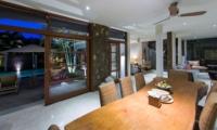 Dining Area with Pool View - Akara Villas M - Seminyak, Bali