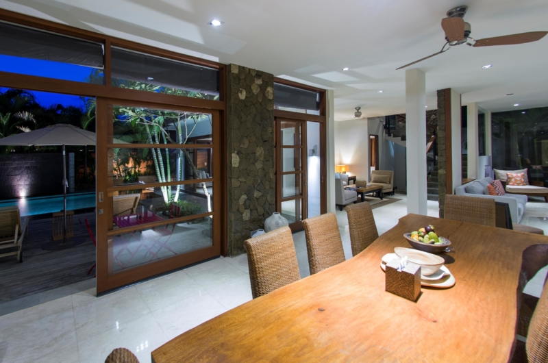 Dining Area with Pool View - Akara Villas M - Seminyak, Bali