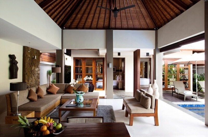 Living Area with Pool View - Akara Villas - Seminyak, Bali