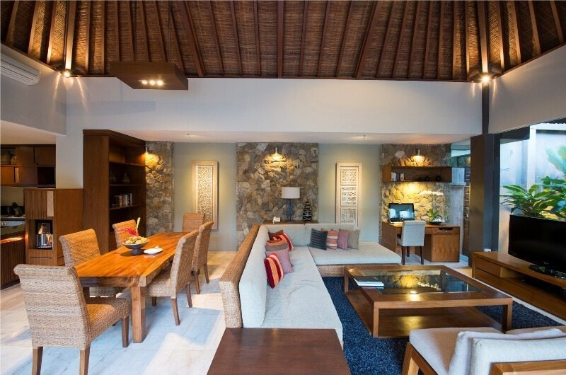 Living and Dining Area - Akara Villas - Seminyak, Bali