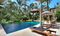 Pool Side Loungers - Alamanda Villa - Ubud, Bali
