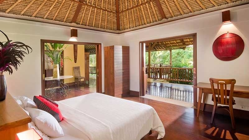 Bedroom and Balcony - Alamanda Villa - Ubud, Bali