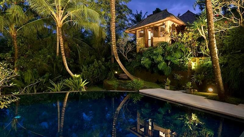 Pool at Night - Alamanda Villa - Ubud, Bali