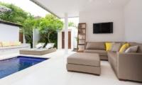 Pool Side Living Area – Allure Villas – Seminyak, Bali
