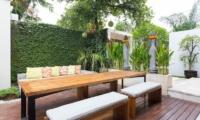 Outdoor Dining - Allure Villas - Seminyak, Bali
