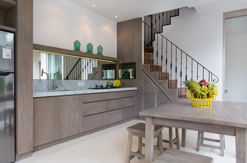Kitchen and Dining Area with Up Stairs - Allure Villas - Seminyak, Bali