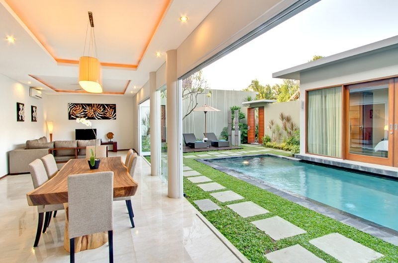 Living and Dining Area with Pool View - Amadea Villas - Seminyak, Bali