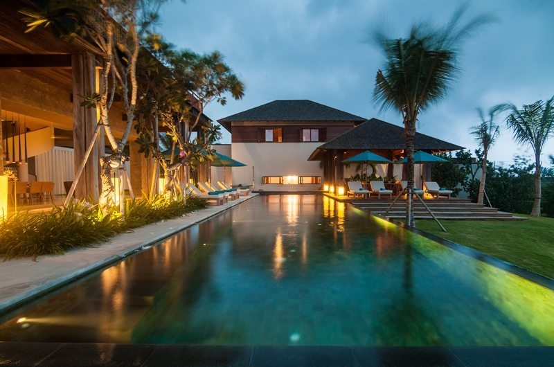 Pool at Night - Ambalama Villa - Seseh, Bali