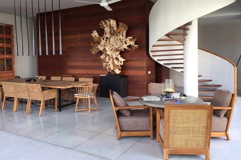 Living and Dining Area with Up Stairs - Ambalama Villa - Seseh, Bali
