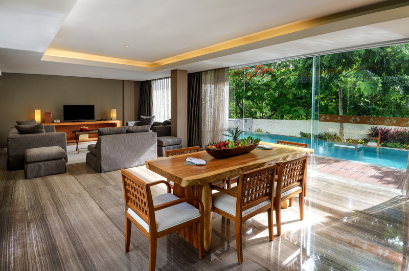 Living and Dining Area with Pool View - Anantara Uluwatu Resort - Uluwatu, Bali