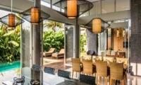 Kitchen and Dining Area with Pool View - Aramanis Villas - Seminyak, Bali
