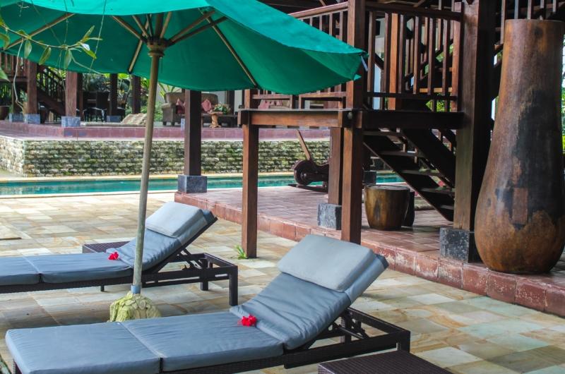 Reclining Sun Loungers - Atas Awan Villa - Ubud, Bali