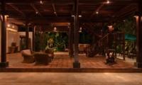 Living Area with Up Stairs - Atas Awan Villa - Ubud, Bali
