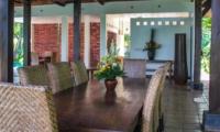 Indoor Dining Area - Atas Awan Villa - Ubud, Bali
