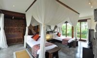 Twin Bedroom with View - Awan Biru Villa - Ubud, Bali
