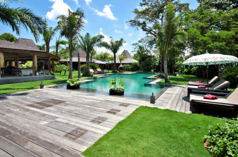 Pool Side Loungers at Day Time - Bali Ethnic Villa - Umalas, Bali