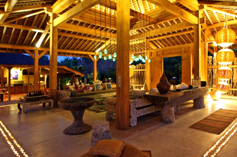 Living Area at Night - Bali Ethnic Villa - Umalas, Bali