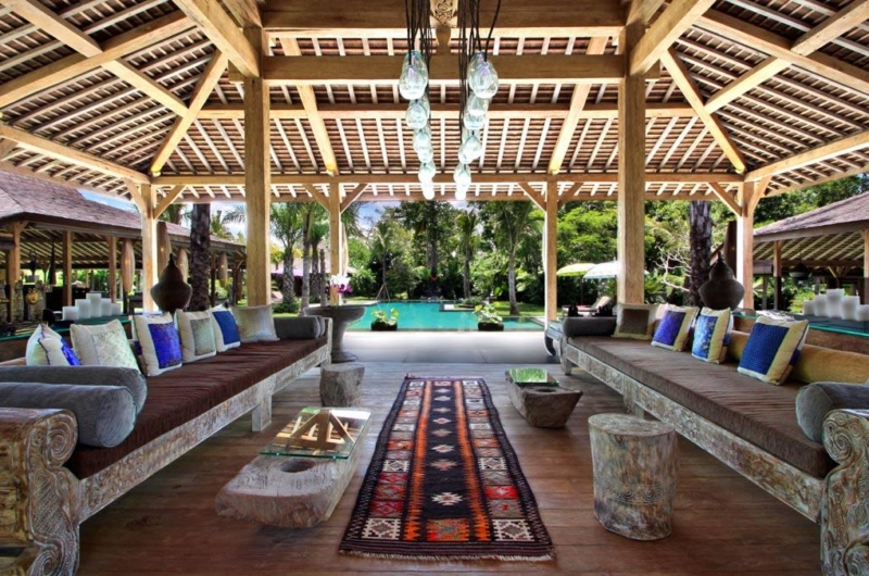 Living Area with Pool View - Bali Ethnic Villa - Umalas, Bali