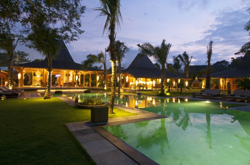 Outdoor Area at Night - Bali Ethnic Villa - Umalas, Bali